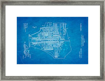 Henry Ford Transmission Mechanism Patent Art 2 1911 Blueprint Framed Print by Ian Monk