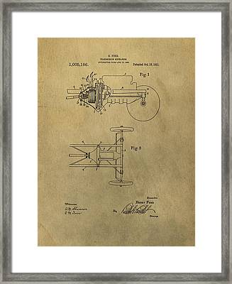 Henry Ford Transmission Patent Framed Print by Dan Sproul