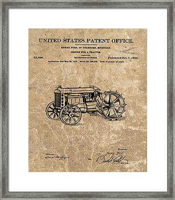 Henry Ford's Tractor Patent Framed Print by Dan Sproul