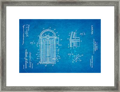 Henry Ice Cream Freezer Patent Art 1912 Blueprint Framed Print