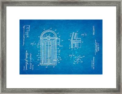Henry Ice Cream Freezer Patent Art 1912 Blueprint Framed Print by Ian Monk