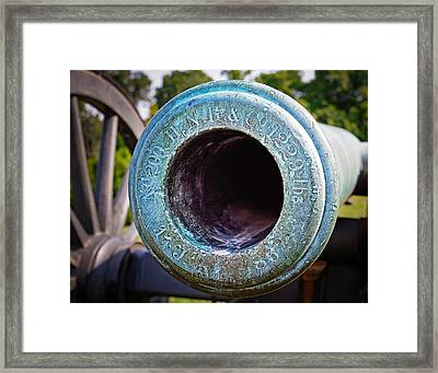 Henry N. Hooper An Co Cannon At Vicksburg National Military Park Framed Print