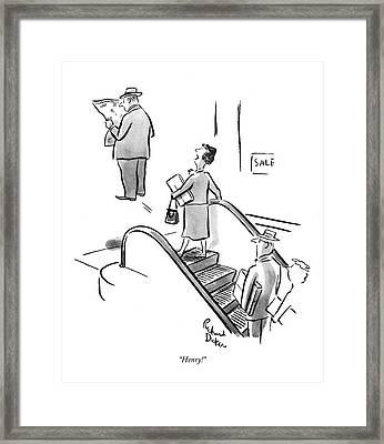 Henry! Framed Print by Richard Decker