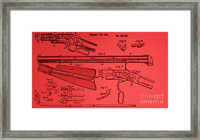 Henry Rifle Patent Drawing Framed Print