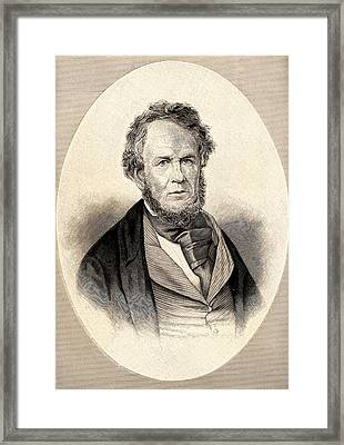 Henry Rowe Schoolcraft Framed Print by Universal History Archive/uig