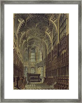 Henry The Seventh Chapel, Plate 8 Framed Print