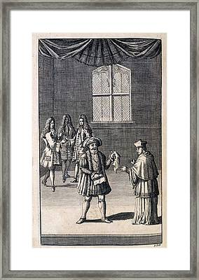 Henry Viii And Cardinal Framed Print by British Library