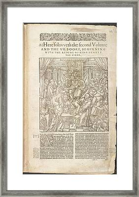 Henry Viii Framed Print by British Library