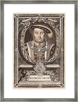 Henry Viii Framed Print by Middle Temple Library