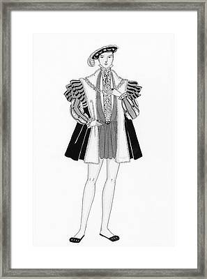 Henry Viii Style Clothing Framed Print by Claire Avery