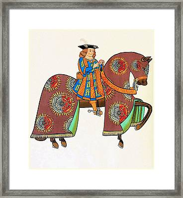 Henry Viii - Tournament Servant - Facing Right Framed Print by Charlie Ross