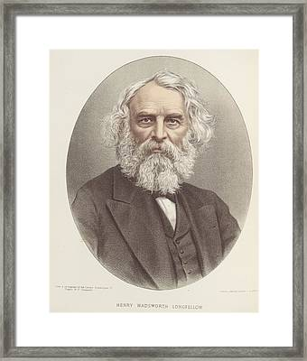 Henry Wadsworth Longfellow Framed Print by British Library