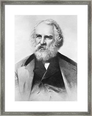 Henry Wadsworth Longfellow Framed Print by Underwood Archives