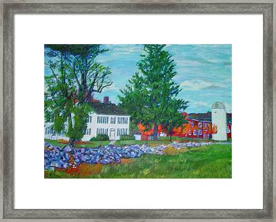 Henry Warren House And Barn Framed Print