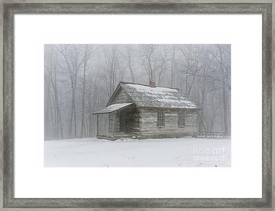 Brush Mountain School House Framed Print by Anthony Heflin