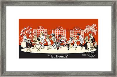 Hep Hounds Framed Print