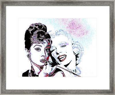 Hepburn And Monroe 20130331 Framed Print by Wingsdomain Art and Photography