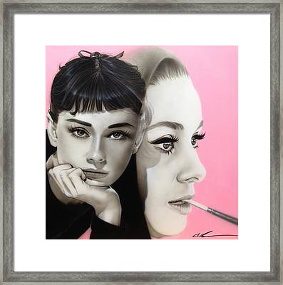 Audrey Hepburn - ' Hepburn ' Framed Print
