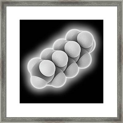 Heptane Molecule Framed Print by Laguna Design