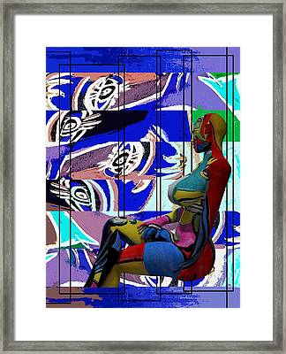Her Abstract Journey Framed Print