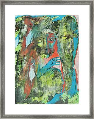 Her Avatars Framed Print by Floria Varnoos
