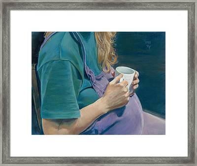 Her Belly A Table Framed Print