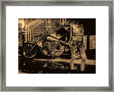 Her Bike Framed Print by Bob Orsillo