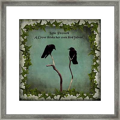 Her Bird Framed Print by Gothicrow Images