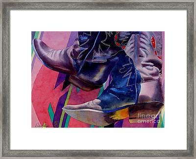 Her Boots Framed Print
