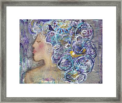 Her Creative Mind Framed Print