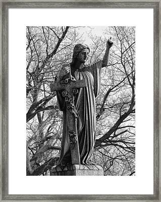 Her Cross Framed Print by Gothicrow Images
