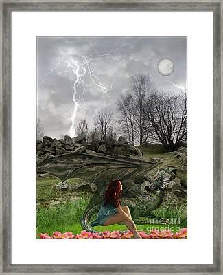 Her Dragon Framed Print