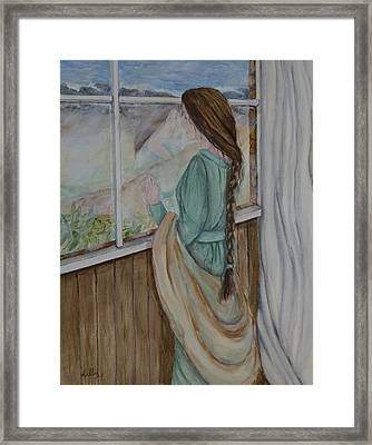 Her Dreams Are Out There Somewhere Framed Print