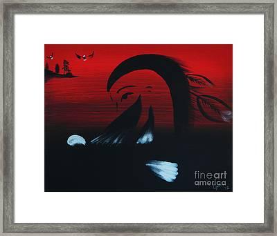 Her Eagle Spirit Framed Print by A Cyaltsa Finkbonner