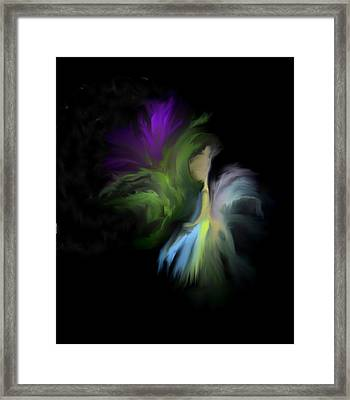 Framed Print featuring the digital art Her Favorite Flower by Jessica Wright