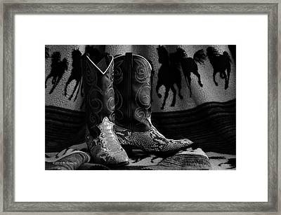 Framed Print featuring the photograph Her Favorite Pair by Kenny Francis