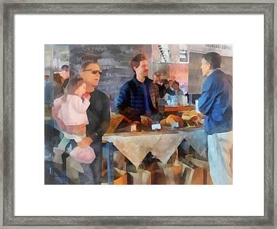 Her First Farmer's Market Framed Print