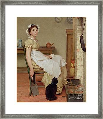 Her First Place Framed Print by George Dunlop Leslie