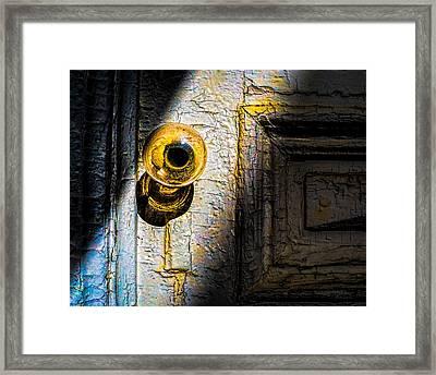 Her Glass Doorknob Framed Print by Bob Orsillo