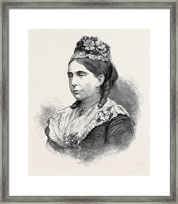 Her Grace The Duchess Of Marlborough 1880 Framed Print by English School