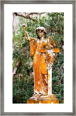 Framed Print featuring the photograph Her Guardian Angel by Joy Hardee