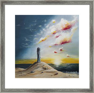 Seascape Art Print By Shawna Erback Framed Print by Shawna Erback