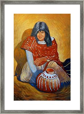 Framed Print featuring the painting Her Last Pot by Charles Munn