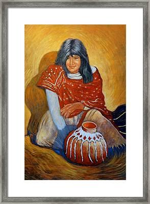 Her Last Pot Framed Print by Charles Munn