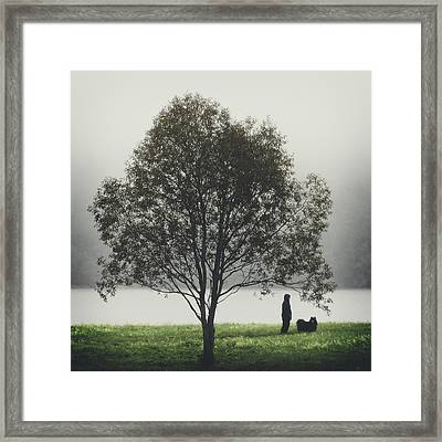 Framed Print featuring the photograph Her Life With A Dog by Ari Salmela