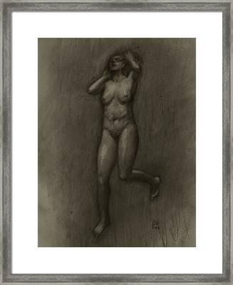 Her Lightness Framed Print by Derek Van Derven
