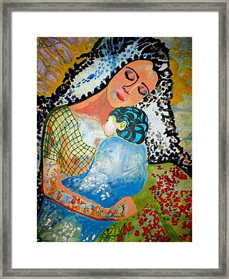 Framed Print featuring the painting Her Love by Amy Sorrell