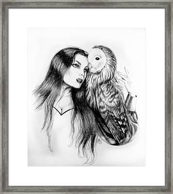 Her Loyal Companion Framed Print by Scarlett Royal