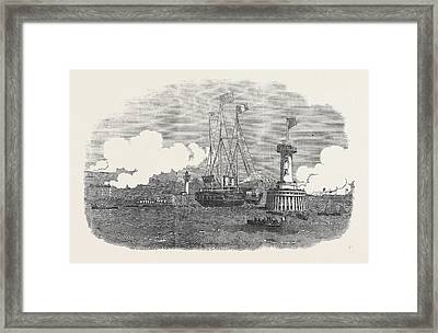 Her Maiestys Visit To France Framed Print