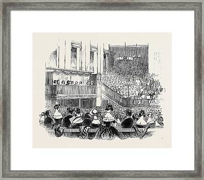 Her Majesty At Exeter Hall Framed Print